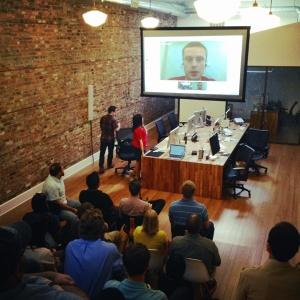 Luke W discussion mobile design at Grow Interactive (via Alex Proaps)
