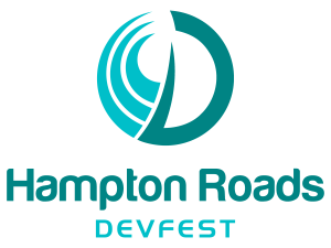 Hampton Roads DevFest logo teal circle